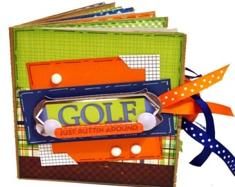 Golf Mini Scrapbook -  Sports Paper Bag Album
