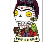Viva La Vida Small Clear Vinyl Sticker