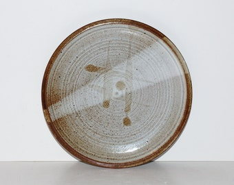 Mid Century Modern Pottery Charger Plate