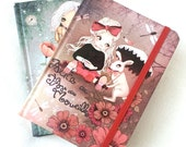Cute note book illustration cute diary , girls diary , kawaii sweet journal