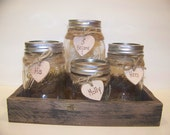 Sand Unity Set-Mason Jar Wedding, Childs Unity Sand-Personalized Rustic Unity-Shabby Chic Unity Mason Jars