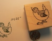 Little bird rubber stamp Wood Mounted P34
