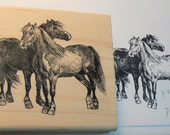 Horses rubber stamp  P12