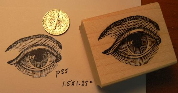 Eye rubber stamp p35