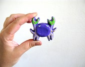 Purple Crab Drawer Knob