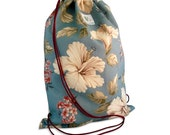 Blue Hana Drawstring Backpack