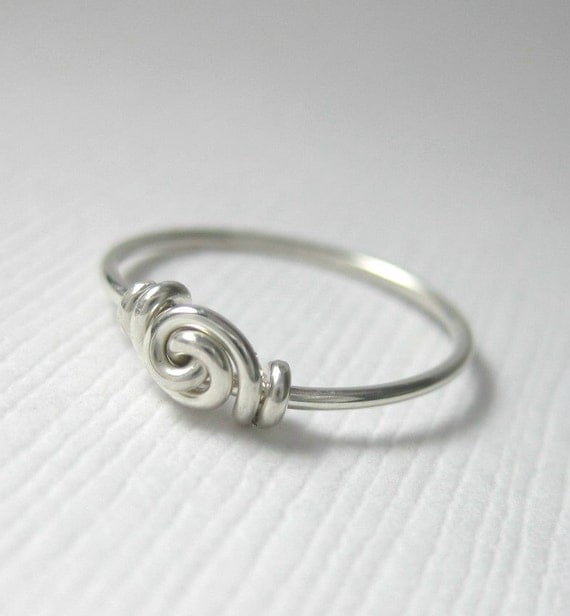 Love Knot Ring Promise Ring For Tiny Fingers Pinky Ring