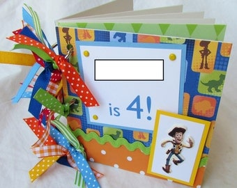 YOuR ChOiCe personalized TOY STORY DiSNeY premade scrapbook ChiPBoaArD ALbuM -- SALE!