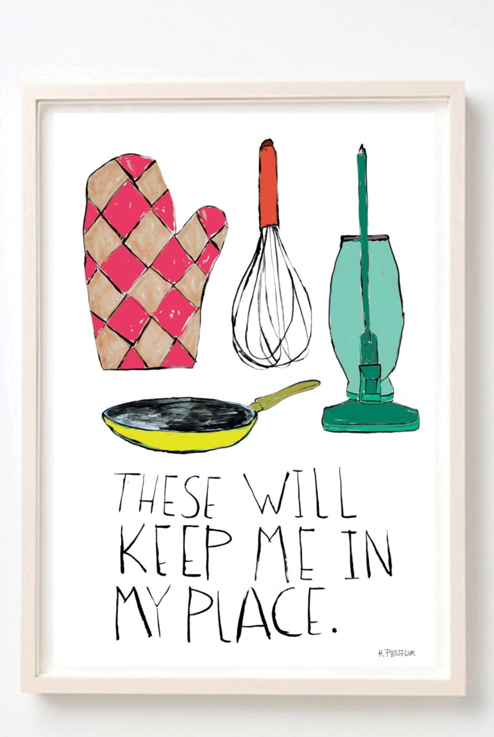 Kitchen art humor kitchen decor poster women gift for for Quirky kitchen items