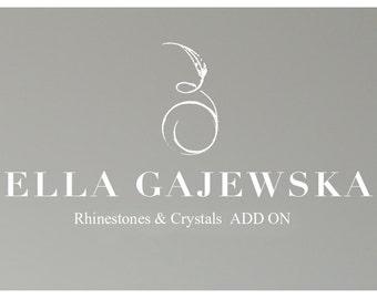 Bridal Add-On - Add Swarovski Rhinestones and Crystals to Your Birdcage Veil and Headpiece
