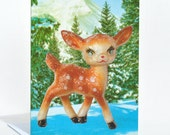 Holiday Fawn Greeting Card