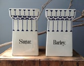 VINTAGE SPICE...two old kitchen ware spice containers, stoneware, ceramics, art deco,Germany