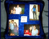 Handmade Customized 4-Square Photo Collage Pillow