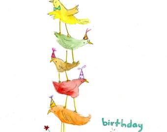 Birthday Birds (greeting card)
