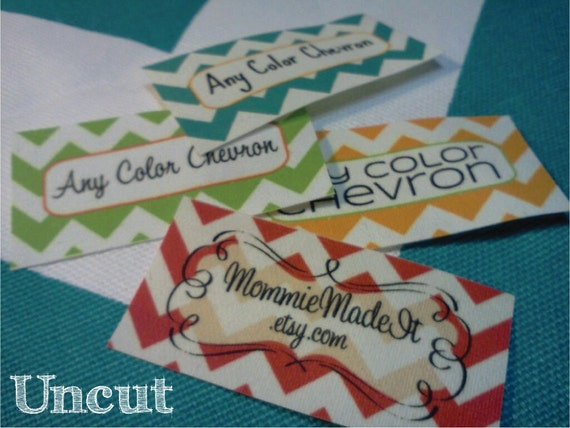 BEST DEAL - 160 Labels - Sew-On Fabric Labels - Uncut - Use Any Premade Design Shown OR Your Print-Ready Design or Logo