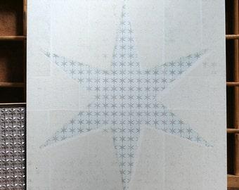 Chicago star letterpress print