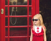 1960's Style Red Sleeveless Layla dress..Valentine.children,girl,clothing