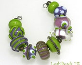 LeahBeads - Simply Violet - Handmade Lampwork Beads