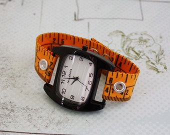 Tape Measure Watch - Black Narmi Face