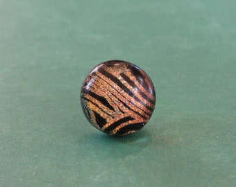 Tie Tack, Copper and Black Tie Tack for Fathers Day, Mens Fashion Tie Pin, Unisex Jewelry, Tie Accessory - Penny - 015 -4