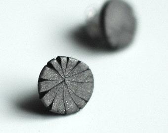 Steel Tacks post earrings