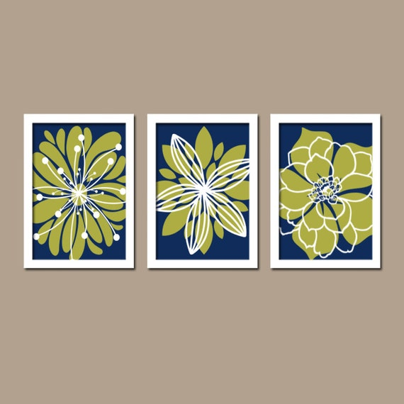 Light Blue Bathroom Wall Art Canvas Or Prints Blue Bedroom: Items Similar To Navy Green Wall Art, Bedroom Canvas Or