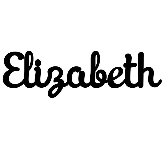 Custom Elizabeth name sign with color matched paint