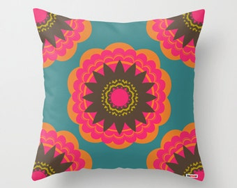 16X16 Decorative throw pillow cover - Multicolored pillow cover - Modern pillow cover- Colorful pillow cover