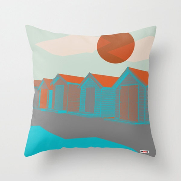 Modern Pillows Etsy : Houses Decorative throw pillow cover Contemporary pillow