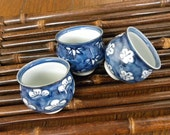 sake cups - matu, take and ume - set of 3