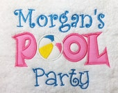 BATH TOWEL Pool Party Personalized Towel