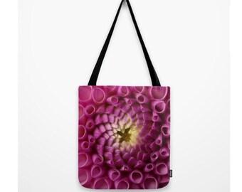 Purple Dahlia Purse Dahlia Photograph Purple Flower Bag Woodland Forest Bag Purple Natural History