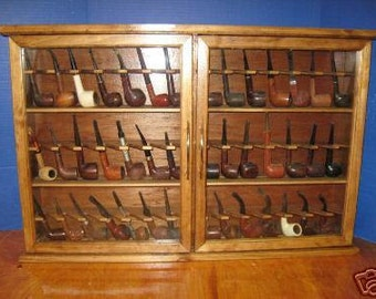 Pipe rack cabinet 42 Pipe Rack Display Cabinet,Churchwarden,Item  190GO