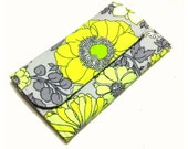 Clutch Organizer Wallet-Grey and Yellow