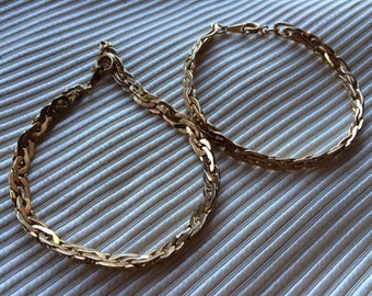 Pair of Vintage Avon New in Box Goldtone Bracelets in Two Sizes