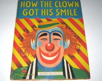 How the Clown Got His Smile Vintage 1950s Wonder Book for Children