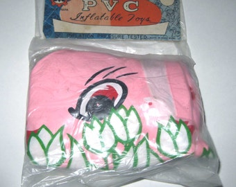 Vintage Inflatable Blow Up Pink Easter Bunny or Rabbit in Easter Egg in Original Package Hong Kong