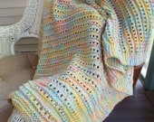 PATTERN ONLY Workshop Lace Baby Blanket Pattern .pdf Download Knitting Pattern, Baby Blanket
