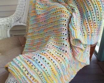 PATTERN ONLY Workshop Lace Baby Blanket Pattern .pdf Download Knitting Pattern, Baby Blanket