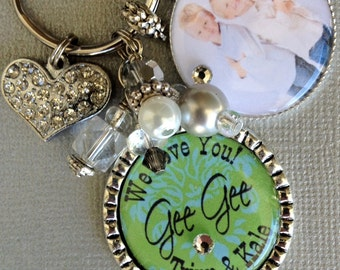 Grandmother Necklace, Personalized Children's Names, Mother's Day gift, photo pendant, Only the best moms get promoted to grandma,