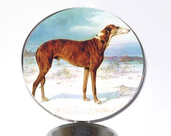 Brindle Greyhound Dog Wine Bottle Stopper Whippet IG