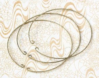 10pcs antique bronze finish bangle finding circle B30A