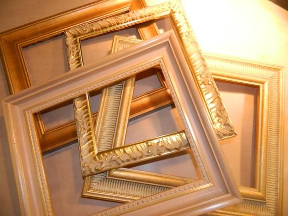 fancy gold frame 8 x 10 with matting for 5 x 7 from littlelotusboutique2 on etsy studio. Black Bedroom Furniture Sets. Home Design Ideas