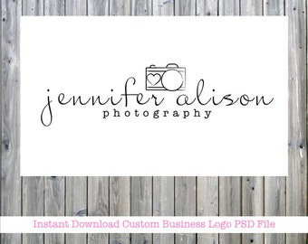 INSTANT DOWNLOAD / Photography Business Logo & Watermark Photoshop PSD File