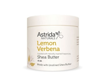 Unrefined Shea Butter - Lemon Verbena, Organic, Pure Shea Butter