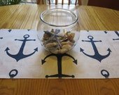 Nautical Anchor Table Runner