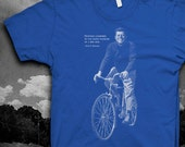 John F. Kennedy Bicycle quote Tshirt Mens Softstyle JFK bike t-shirt