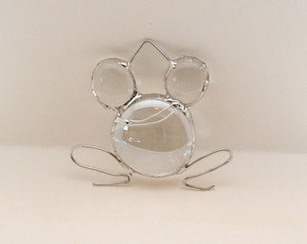 Handcrafted Stained Glass Nugget Frog Suncatcher Sun Catcher