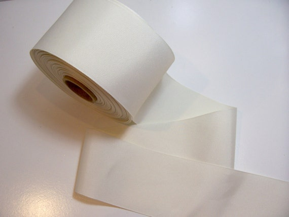 Ivory Ribbon, Ivory Grosgrain Ribbon 3 inches wide x 3 yards, Cheer Bows, Cheer Ribbon