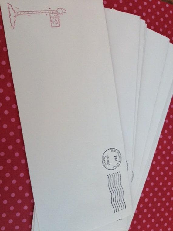 Items similar to Santa Claus Envelopes Return Address North Pole Set ...